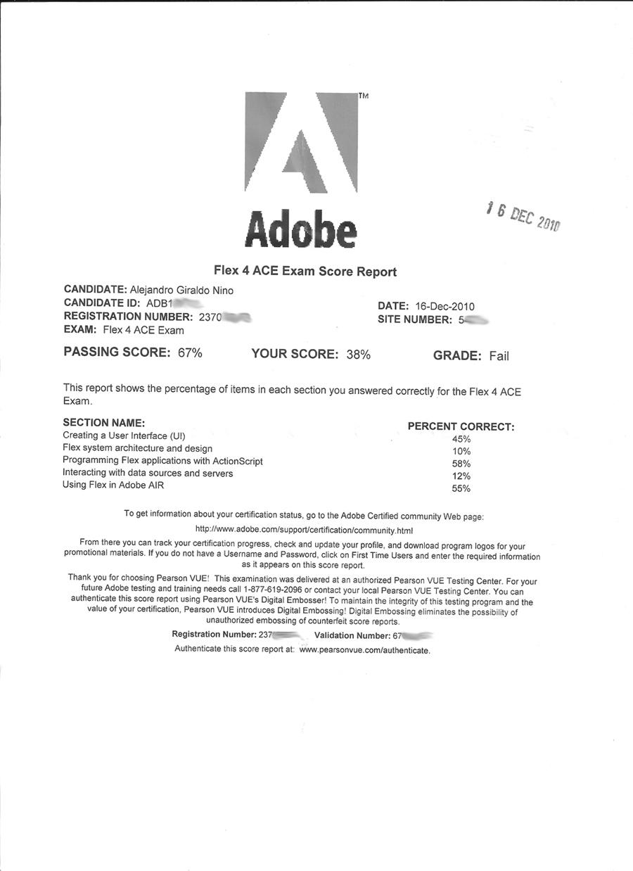 Yoambulante Adobe Ace Exams